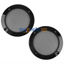 "2PCS 4"" Inch Matte Type Circle Speaker Decorative Circle With Protective Grille"