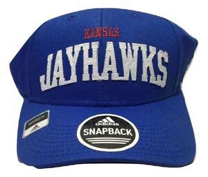 NCAA - University of Kansas JayHawks Hat - Adidas Women's Blue Snapback