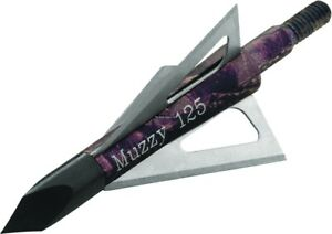Muzzy-Bowhunting-Broadhead-Replacement-Steel-Sharp-Blades-125-Grain-6-Pack-235