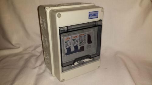 nuevo!!! Unidad de consumo 2 vías equipado con 63 Amp 300ma RCD 2 Reja de desminado s tipo B IP65!!!