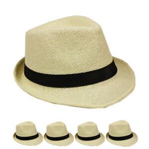 0d62fb880 Details about Men Women Unisex Fedora Hat Trilby Cuban Style Upturn Short  Brim Cap Hat Panama