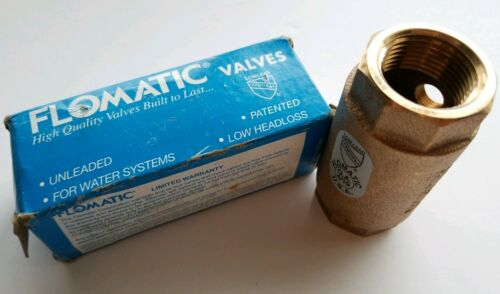 "Flomatic 1/"" Spring loaded  80E Enviro Check Valve Part no 4051E Lead Free"