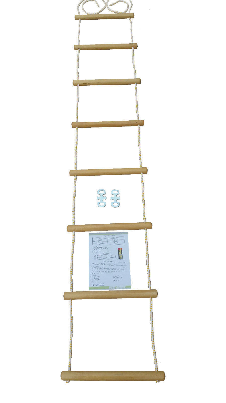 Rope ladder Climbing rope different lengths Wood sprout