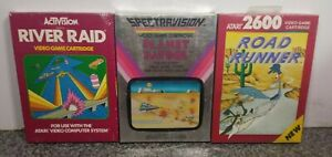 LOT-OF-THREE-GAMES-FOR-ATARI-2600-7800-BRAND-NEW-VINTAGE-RARE-NOS-SEALED-23