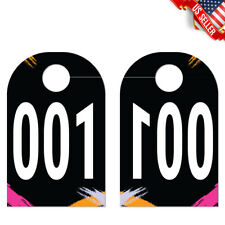 100 Live Sale Plastic Number Tags Pastel Design Numbers For Facebook Paparazzi
