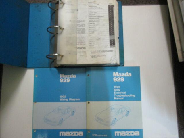 1992 Mazda 929 Service Repair Shop Manual Set Factory Oem