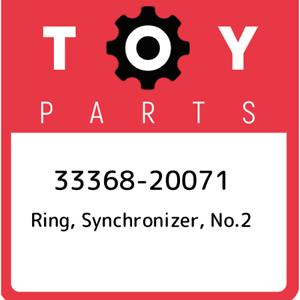 33368-20071-Toyota-Ring-synchronizer-no-2-3336820071-New-Genuine-OEM-Part