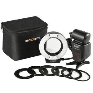KF-150-Macro-Ring-Flash-Light-6-Adapter-Rings-for-Nikon-DSLR-Camera-K-amp-F-Concept