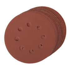 10 Pack 125mm Mixed Grits Sanding Sheet Discs Punched Aluminium Oxide Hook Loop