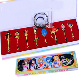 8pcs-Sailor-Moon-Tsukino-Usagi-Pretty-Guardian-Compact-Pendant-Necklace-Keychain
