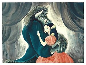 Al-Hirschfeld-039-s-BEAUTY-amp-THE-BEAST-Hand-Signed-Limited-Edition-Lithograph