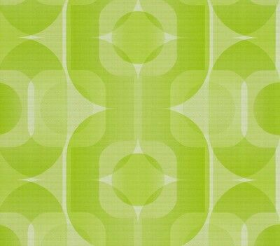 RETRO 70s LIME GREEN SHADES WHITE FEATURE DESIGNER QUALITY WALLPAPER 95528-2
