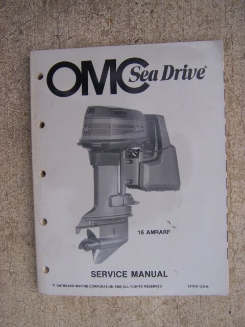 1990 Omc Sea Drive Outboard 16amrarf Service Manual More