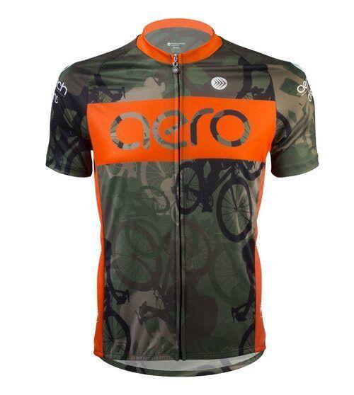 Aero Tech Designs Biking Woodlands Camo Cycling Bike Jersey Made in USA