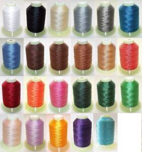 Naehgarn-Leder-Garn-100-Polyester-0-0048-m-Farbe-auswahl-900-m-N30
