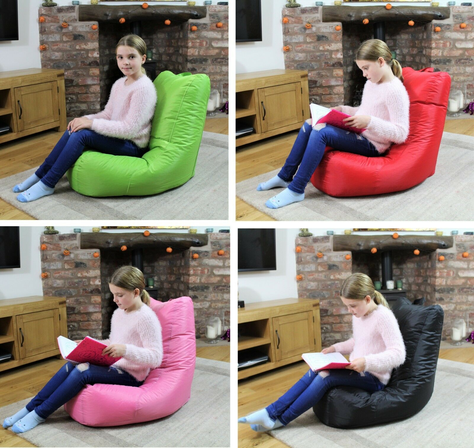 Bean Bag Gamer Beanbag Indoor Outdoor Gaming Garden Recliner Cushion Kids Chair £23.95 @ eBay