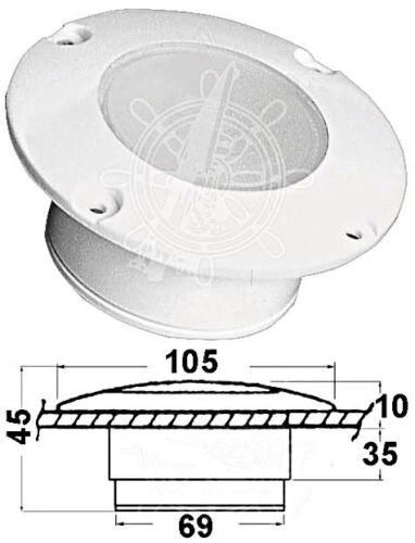 Osculati Watertight UV-Resistant Built-In Courtesy White 18 LED Cockpit Light