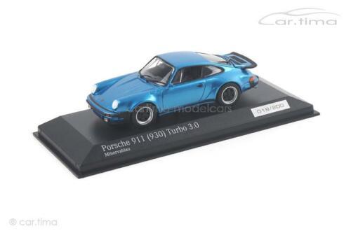 1 of 200 930 Minichamps Porsche 911 minervablau Turbo 3.0 car.tima EXC