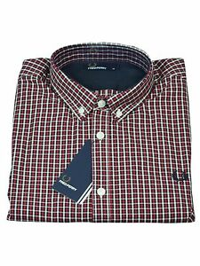 Fred-Perry-Button-Down-Langarm-Hemd-Langarmhemd-M9527-956-England-Red-5775