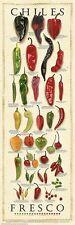 CHILES FRESCO CHART POSTER cuisine restaurant guide culinary chilli print