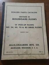 Allis Chalmers Moldboard Plows Dealer Parts Catalog D5