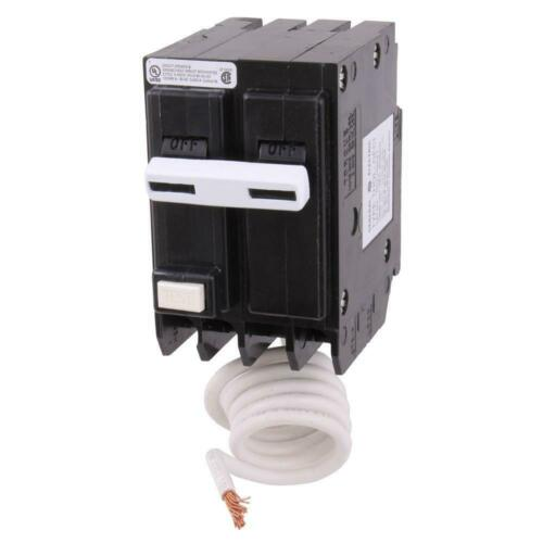 GE 30 Amp Double Pole Ground Fault Breaker with Self-Test
