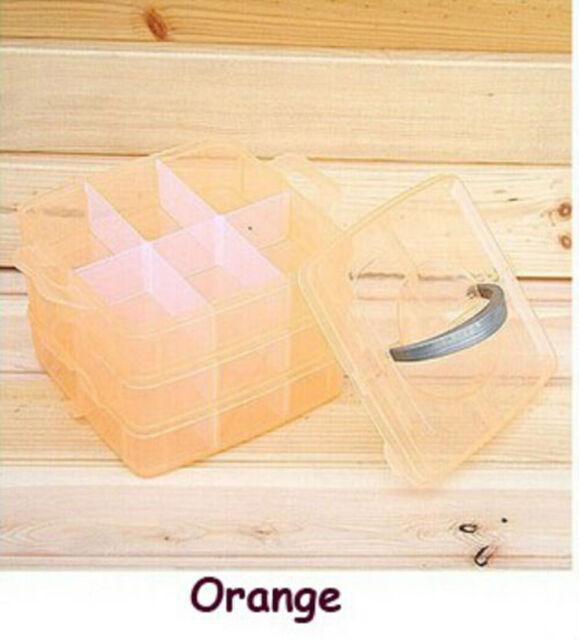 New Jewellery Craft Tool Organiser Storage Box Container Case Adjustable 3 Tier