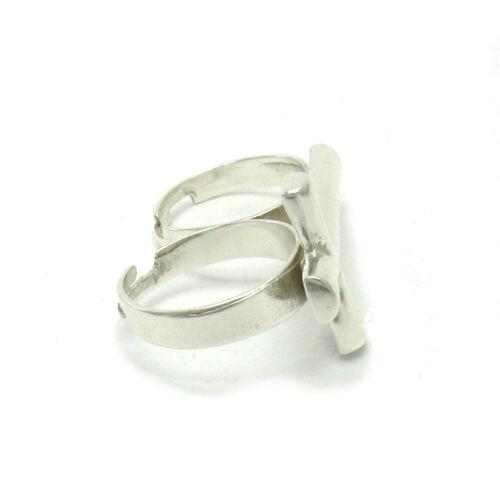 925 SILBER RING für zwei Finger Kreuz R001033