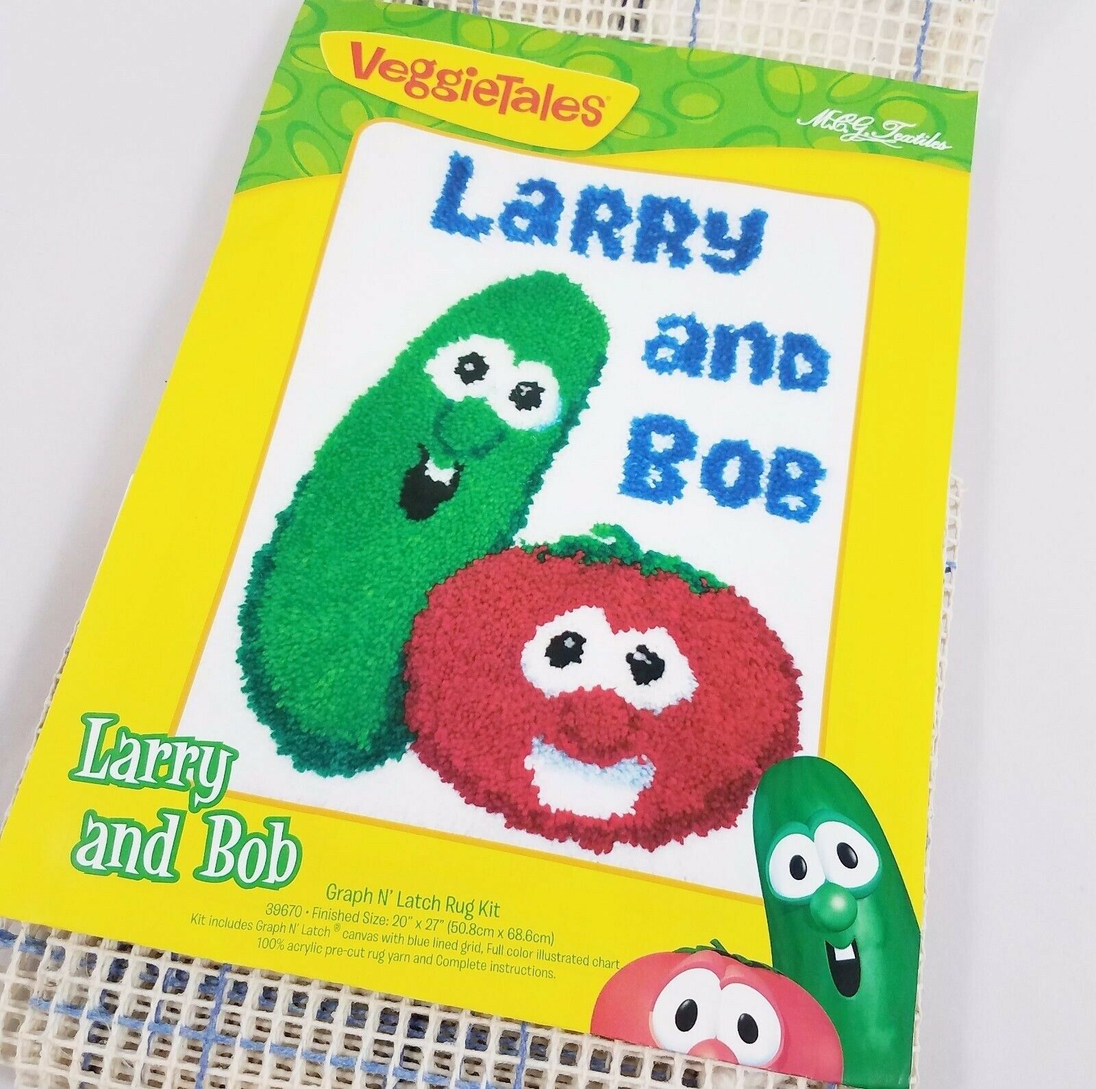 Veggie Tales Larry Bob Latch Hook Rug