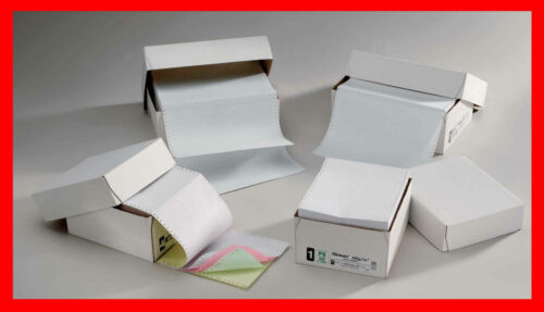11 x 241mm Listing Computer Paper 3 Part Perfed NCR Tinted W//P//Y Box 700