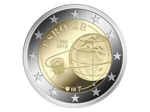 10-2-Euro-Gedenkmunze-BELGIEN-2018-50-Jahrestag-Satelliten-ESRO-2B