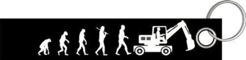 Bagger Baggerfahrer Bauarbeiter Baustelle Evolution Schlüsselanhänger Schlüsselb