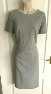 RARE-KAREN-MILLEN-CROSS-PANEL-TAILORED-SHIFT-PENCIL-DRESS-SIZE-12-10-BUSINESS