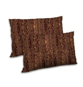 Abstract-Printed-Pillow-Cover-Satin-Brown-Throw-Cushion-Case-Cover-Decor-12-034-x18