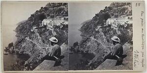 Posillipo-Napoli-Italia-Fotografia-Stereo-Amatore-Vintage-Albumina