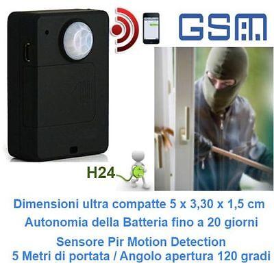 GSM ALLARME ANTIFURTO SENSORE PIR MP ALERT RILEVATORE DI MOVIMENTO