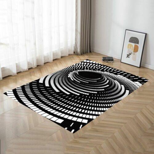 3D Printed Carpet Vortex Illusion Mat Living Room Anti-slip Floor Rug Home Decor
