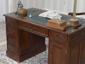 Charmant Das Bild Wird Geladen Partner Schreibtisch Victorian Englischer Stil Buero  Doppelschreibtisch 120