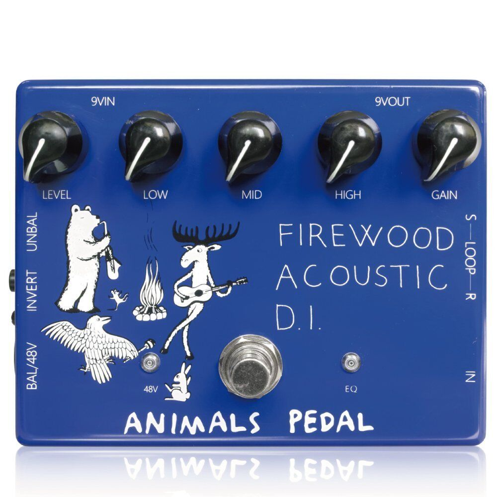 Animals Pedal Firewood Acoustic D.I. Guitar Pedal Effect  FREE SHIPPING