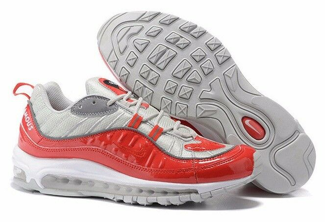 Men's Supreme x Nike Air Max 98 Running Shoes -Size 12 -844694 600 <New>