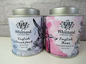 New-WHITTARD-ALICE-IN-WONDERLAND-Tea-set-English-Breakfast-English-rose-mini