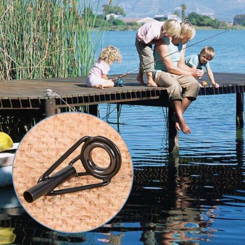 80PCS Titanium Oxid Fishing Rod Guide Tips Top Eye Rings Line Repair Kit Set
