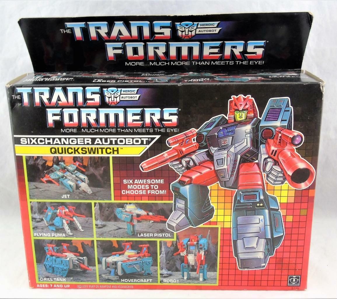 buen precio Transformers Original G1 G1 G1 1988 multichanger quickswitch Completo Con Caja  hasta un 65% de descuento