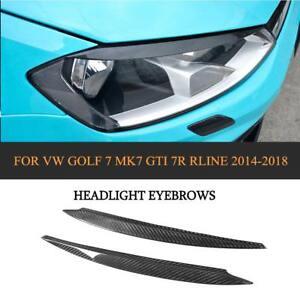 Paar Carbon Scheinwerferblenden für VW Golf 7 GTI R R-Line Böser Blick Turning