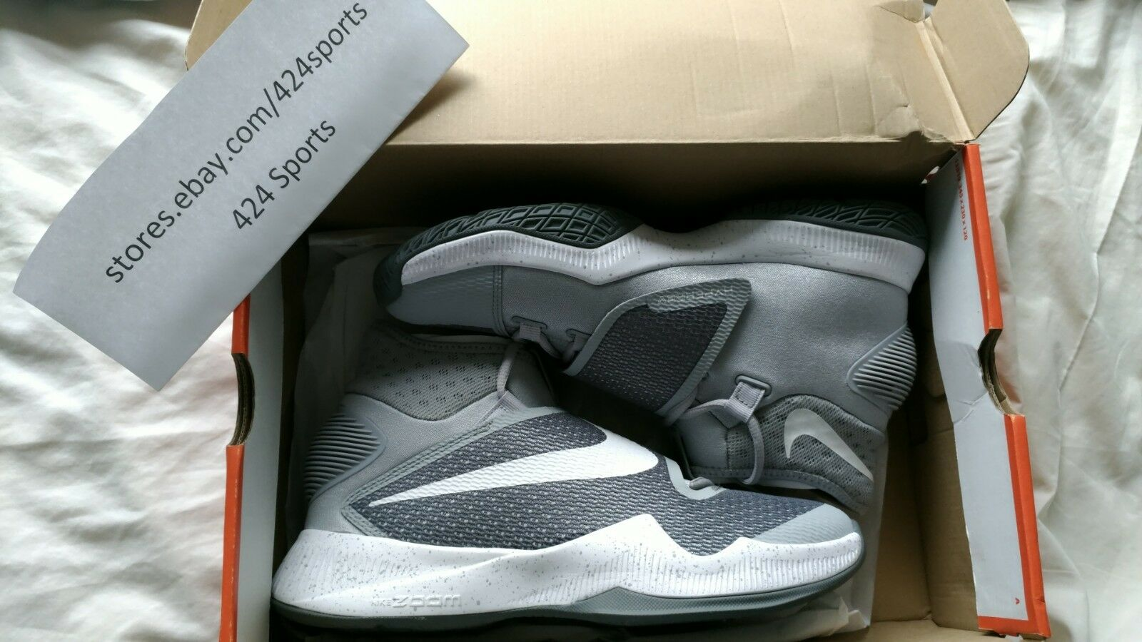 Nike Zoom Hyperrev 2016 size 8.5 Wolf Grey Cool Grey White 820224 014