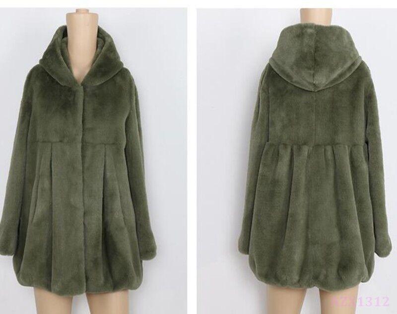 Ropa de moda para mujer con capucha de corto corto corto elegante chaqueta de abrigo Parka Sexy Dulce Suelto 6c63aa
