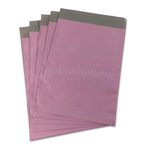 250x350mm POSTAL PACKAGING Cheap Low Cost Any Qty PINK Mailing Bags 10x14/""