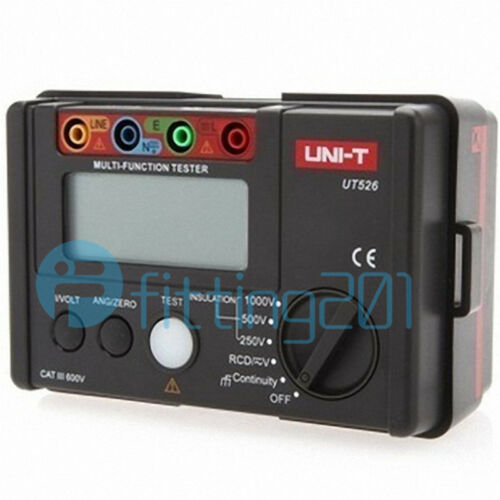 Electrical Insulation Tester UNI-T UT526 1000V 500MΩ RCD Test Continuity VAC//DC