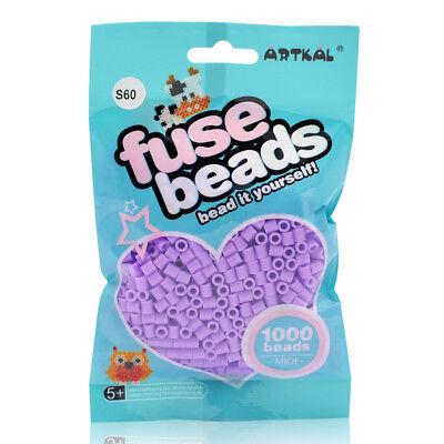 Artkal 1000 Midi Bügelperlen 5mm Lavender S60 Perlen Fuse Beads Basteln & Kreativität