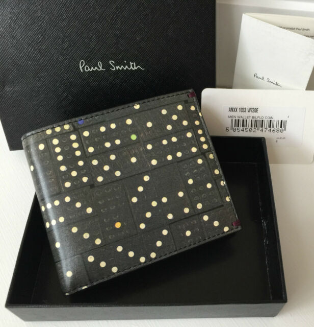 PAUL SMITH DOMINO PRINT BIFOLD CARD HOLDER WALLET BNIB MADE IN ITALY